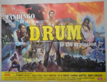Drum, Original UK quad poster, RARE Blaxploitation, Pam Grier, '76